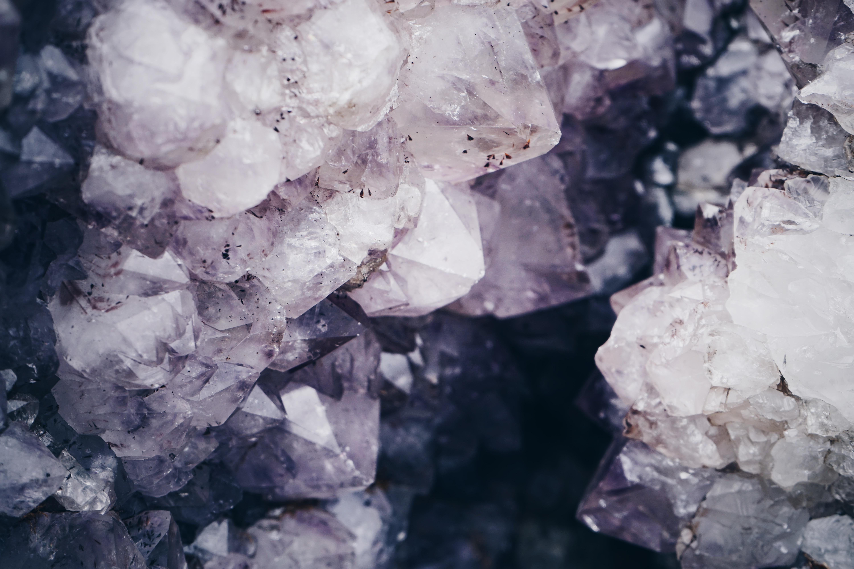 Foto van de binnenkant van een kristal